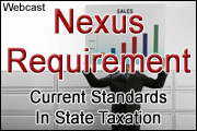 Update On Current Economic Nexus Standards In State Taxation