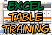 Excel Training: Using Tables