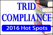 TRID Compliance: 2016 Hot Spots